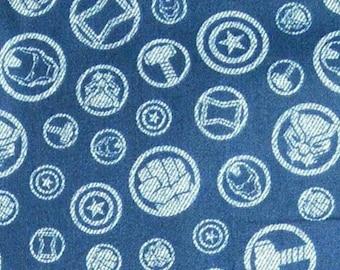 Hero Symbols, Avengers, 13050102, col 02, Camelot Fabrics, cotton, cotton quilt, cotton designer, (Reg 4.61-26.99)