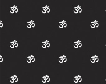 Om, black, Omstoppable Collection, 21191608, col 02, Camelot Fabrics, 100% Cotton, (Reg 3.76-21.91)
