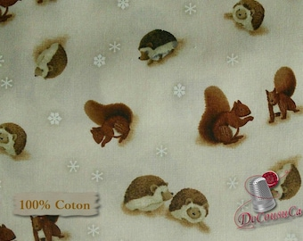END OF BOLT, Winter's Friends, P&B Textiles, 26711, 100% Cotton