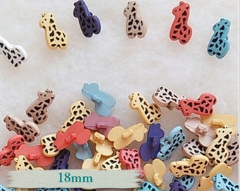 12 or 25 Buttons, 18mm, Giraffe, plastic, button décoratif, vintage,