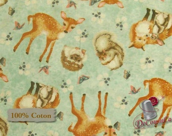 Forest Friends, by Nancy Archer, Studio e, #4353, multiple quantity cut in one piece, 100% Cotton,