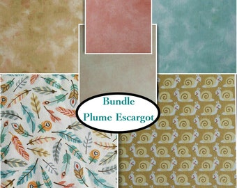 Kit 6 prints, choose your format, 1 of each print, Plume, Escargot, Bundle