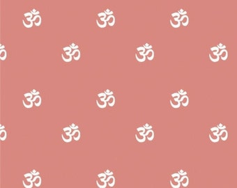 Om, coral, Omstoppable Collection, 21191608, col 03, Camelot Fabrics, 100% Cotton, (Reg 3.76-21.91)
