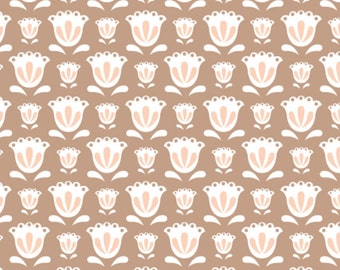 Tulip, Brown sugar, 2144706-02, Camelot Fabrics, multiple quantity cut in one piece, 100% Cotton, (Reg 2.99-17.99)
