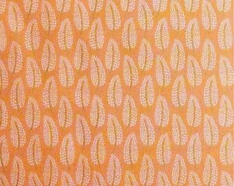 Leaf, orange, 29190103, col 01, Black Swan, Camelot Fabrics, 100% Cotton