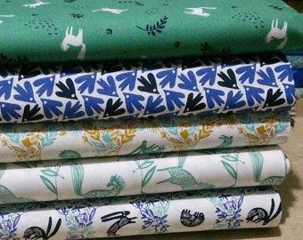 Bundle, 5 prints, Skogen, Camelot Fabrics, Bundle, 1 of each print