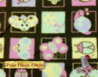 Butterfly, pink, brown, Polar Fleece, David Textiles, butterfly, pink, brown, anti-pilling,