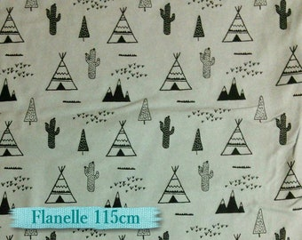 Flannel, indian tent, gray, black, many yards will be cut as one piece, Flannel 100% high quality cotton