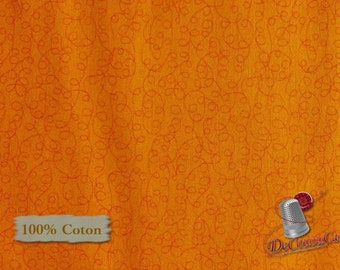 Oange, Bear Essentials 3, P & B Textiles, multiple quantity cut in one piece, 100% Cotton,