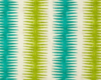 Dreamer, green, cream, 100% coton, Windham Fabrics, Dreamer, by Carrie Blomston, 42571, Pueblo Stripe