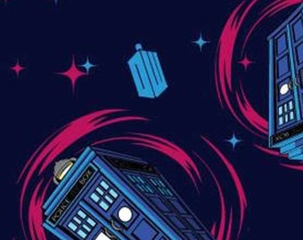 Doctor Who, Phone Booth, Springs Creatives, CP57138, 100% Cotton, quilt cotton