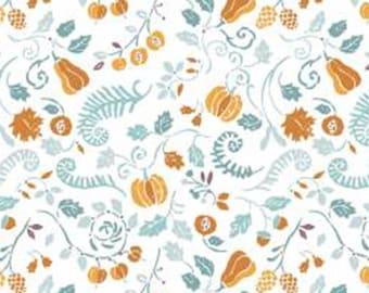 Harvest, aqua blue, range, white, 66180201, col 01, Autumn Impressions, Camelot Fabrics, cotton, cotton quilt, cotton designer