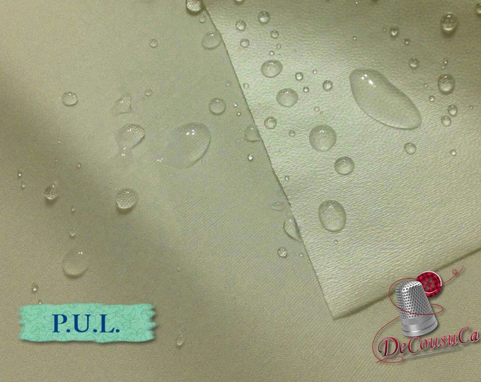 """Featured listing image: P.U.L. waterproof, WHITE, laminated polyester, multiple quantity cut in one piece,  150cm, (60"""") wide"""