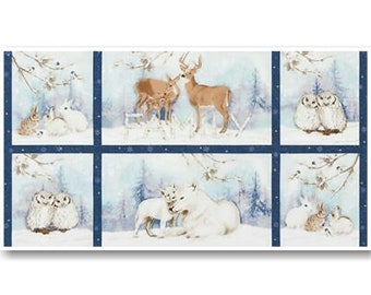 "Panel, 24""X44"", Winter White, Kanvas, 18404, col 245, 7885, Benartex"