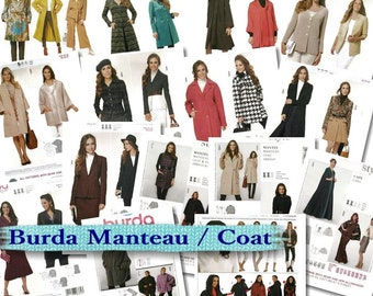 70%, 7 models, (Reg 8.99 -14.99), Burda, Women, 8-34, cape, coat, jacket, new, uncut.