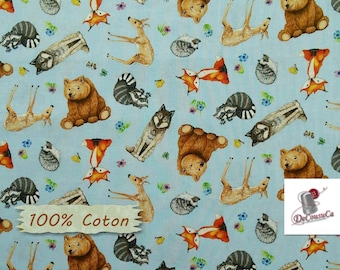 Animals, blue, 7803, Elizabeth's Studio, 100% Cotton, (Reg 2.99-17.99)