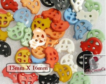 12or 25 Buttons, 13mm, car, vintage, color various, BF47