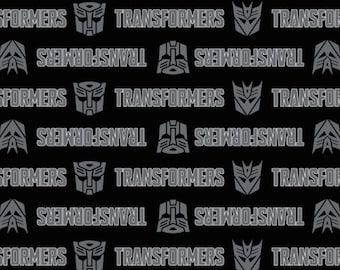 Transformers, logo, heads, 95020004, col 02, Camelot Fabrics, cotton, cotton quilt, cotton designer