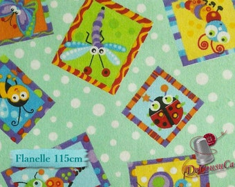 Flannel, bee, A.E.Nathan, many yards will be cut as one piece, Flannel 100% high quality cotton