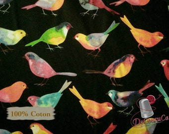 Bird, black, Bird Watchers, 26765, 100% Cotton,