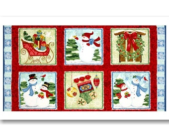 "Panel, Christmas, 24""X44"", (60cmX115cm), Winter Toys, Studio E, 3806P, Multiple quantity cut in one piece, 100% Cotton"