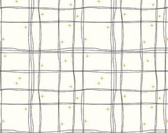 Plaid, Cream, Mod Meow, 10285, Riley Blake, cotton quilt, cotton designer, (Reg 3.76-21.91)