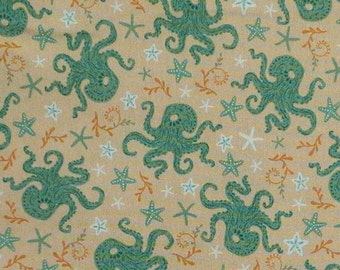Pieuvre, 21180303, col 01, Beachside Pretty, Oceanic Garden, Camelot Fabrics, cotton, cotton quilt, cotton designer