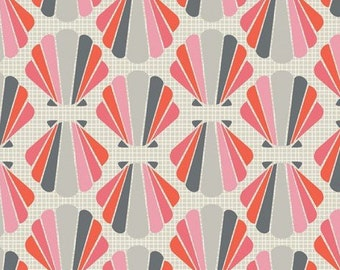The Beach House, 4141806, Camelot Cotton, coral, gray, white, multiple quantity cut in one piece, 100% Cotton
