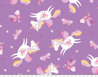 Unicorn, Once Upon a Time, 91190203, col 02, Camelot Fabrics, cotton, cotton quilt, cotton designer