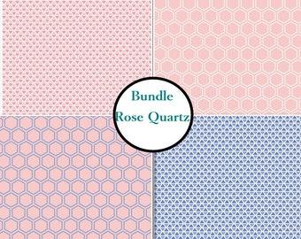 4 prints, Rose Quartz, Camelot Fabrics, Bundle, 1 of each print, 100% coton
