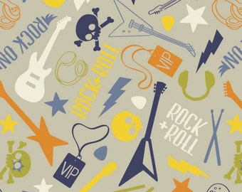 Guitar, music, Rock'n Roll, Rock On, 21190306, col 04, Camelot Fabrics, 100% Cotton, quilt cotton, designer cotton