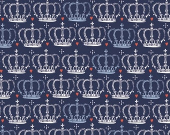 Crown, blue, From London with Love, 30170105, 02, Camelot Fabrics, cotton, cotton quilt, cotton designer