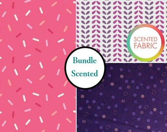 Bundle, 3 prints, Scented, Camelot Fabric, tide, 1 of each print, (Reg 10.47 - 44.97)