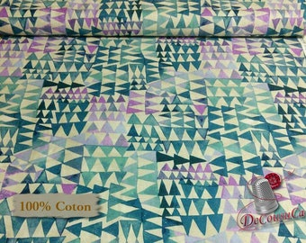 Dreamer, blue, orchidée, cream, 100% coton, Windham Fabrics, Dreamer, by Carrie Blomston, 42570, Pueblo Stripe