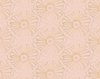 Flower, gold métallic, Up Up and Away, 29170103, col 03, Camelot Fabrics, cotton, cotton quilt, cotton designer