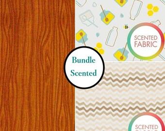 Bundle, 3 prints, Scented, Camelot Fabric, tide, 1 of each print, (Reg 10.47 - 44.97)