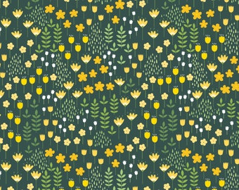 Bright Side, flower, 2240902, col 03, Camelot Fabrics, multiple quantity cut in 1 piece, Cotton, (Reg 3.99 - 17.99)