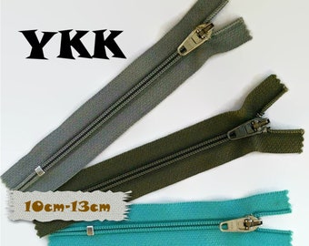 "YKK, 10cm-13cm, Zipper, curseur 45C, 4"" - 5"", (10cm-13cm), nylon, perfect for wallets, clothing, repair, creation, Z04, (Reg 2.09-2.39)"