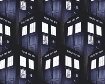 Doctor Who, Police, packed tardis, Springs Creatives, CP515632, 100% Cotton, quilt cotton