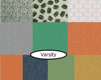 Bundle, 10 prints, Varsity, Riley Blake