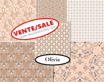 50%, 6 prints, Olivia, Camelot Fabric, 1 of each print, (Reg 22.56-66.06)