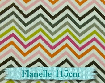 "Fat quarter, 18""X22"", (45cm X 55cm), Flannel, Chevron, Camelo"
