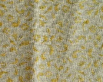 Flower, yellow, cream, Springs Creative, CP62407, multiple quantity cut in one piece, 100% Cotton