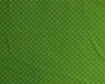 Green, Shop hop, By Bonnie Krebs, Art Impressions, Henry Glass, #8667, multiple quantity cut in one piece, 100% Cotton, (Reg 3.99 - 17.99)