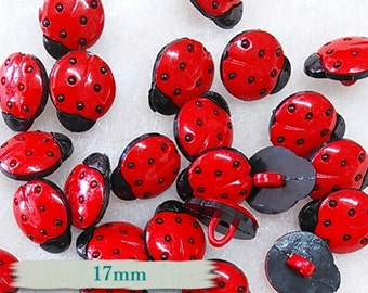 6 buttons, 17mm, Beetle, vintage, BF14,