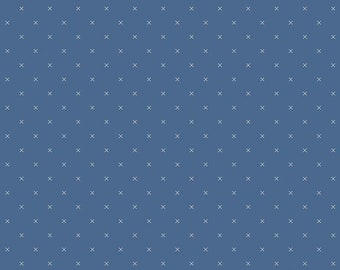 DENIM, Bee Cross Stitch, 745, Riley Blake, cotton quilt, cotton designer, (Reg 3.76-21.91)