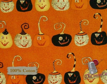 END OF BOLT, Pumpkin, Orange and black, Witchy, Studio E, 3702, 100% Cotton