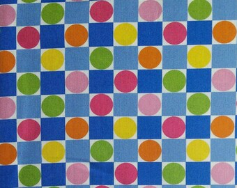 Spring Fever, Jane Sassaman, PWJS098, Checkerboard, Free Spirit, multiple quantity cut in one piece, 100% Cotton