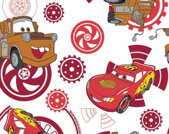Disney, Pixar, Cars, fond blanc, 85070103, col 01, Camelot Fabrics, 100% Cotton, quilt cotton