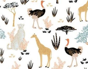 Jungle animal, white, Safari Dream, 29180101, col 01, Camelot Fabrics, cotton, cotton quilt, cotton designer